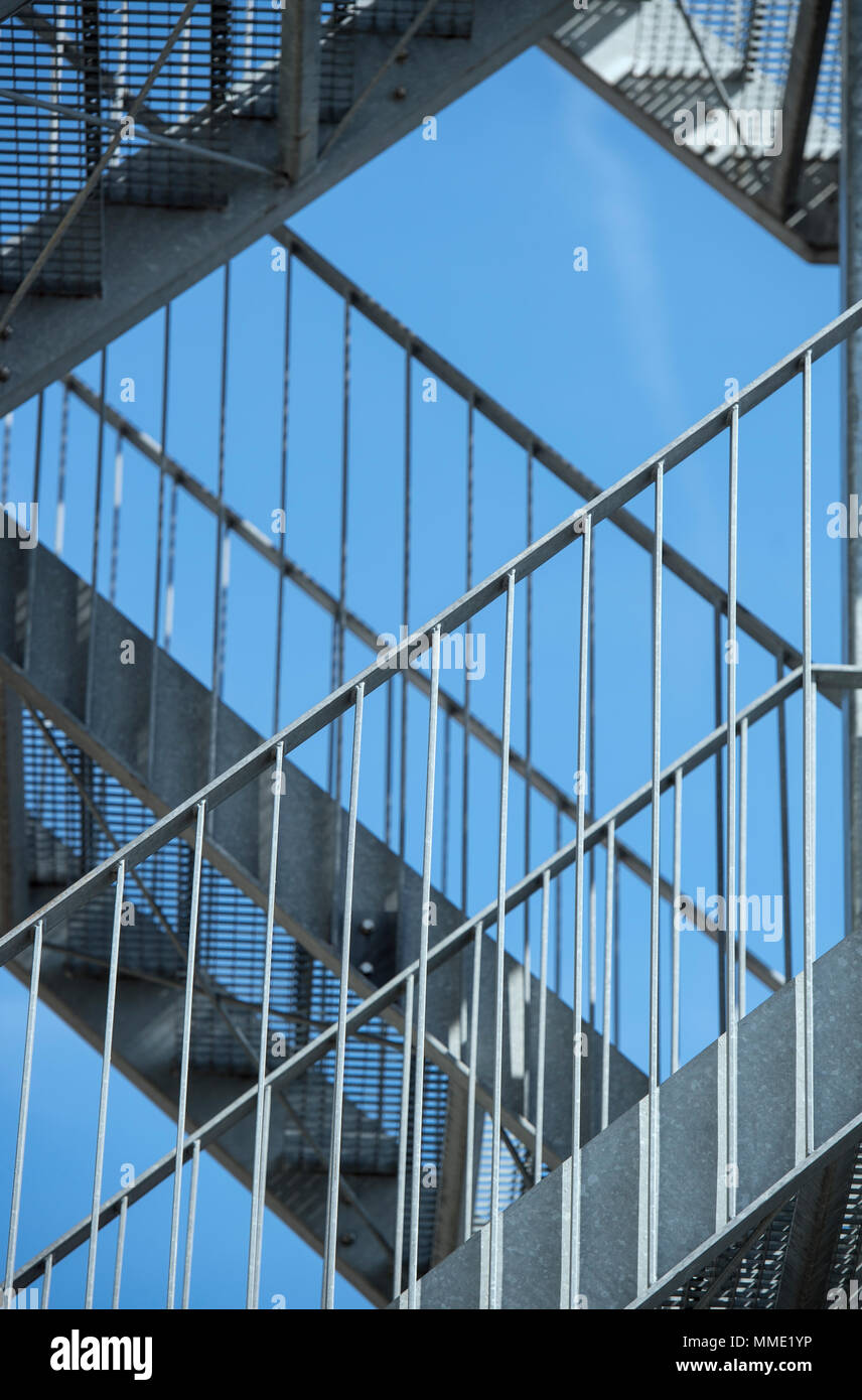 Abstract of a metal staircase - Stock Image
