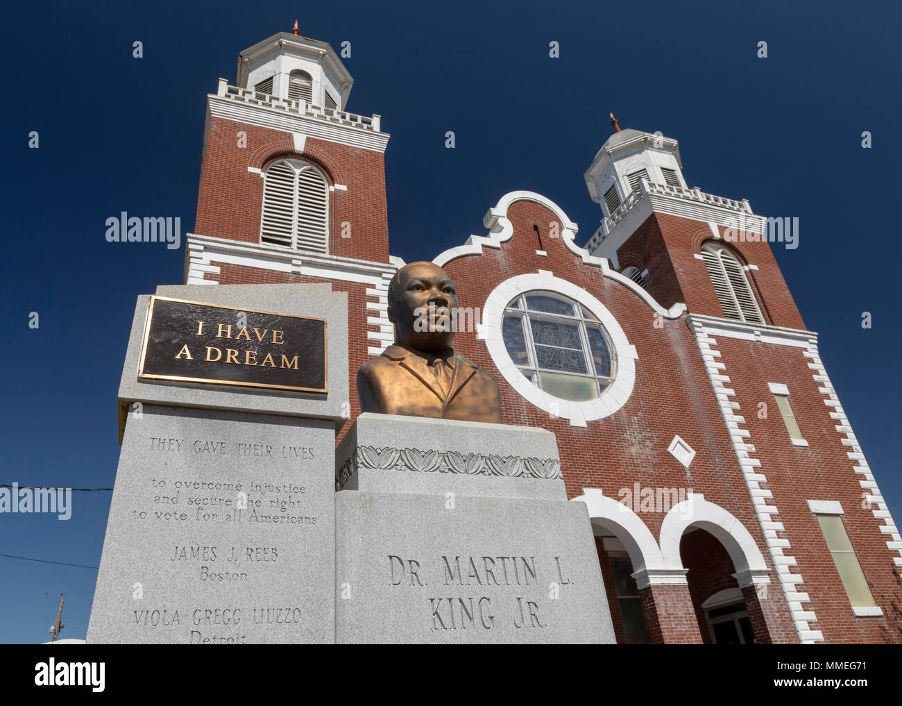 Selma, Alabama - The Brown Chapel AME Church, where Martin Luther King Jr. led a struggle for voting rights in 1965 that climaxed with the Selma to Mo - Stock Image