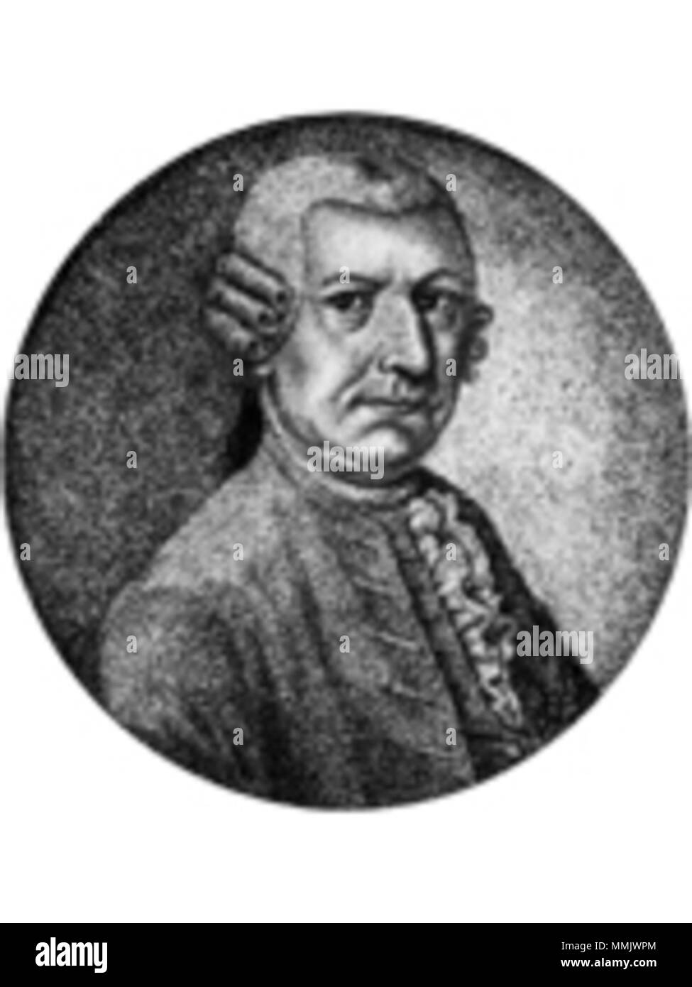. Deutsch: Enno Johann Heinrich Tjaden (* 18. Juli 1722 in Aurich; 3. April 1781 ebenda) war ein ostfriesischer Jurist und Wissenschaftshistoriker  . 1789. Deutsch: Kupferstich von C. B. Meyer, 1789; Ölgemälde von unbekannter Hand (s. unter 'Literatur'). Enno Johann Heinrich Tjaden - Stock Image