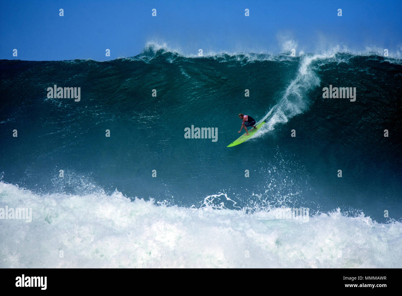 bb5ad4a8e0 Professional surfer John John Florence rides a giant wave during the  Quiksilver in memory of Eddie Aikau 2016