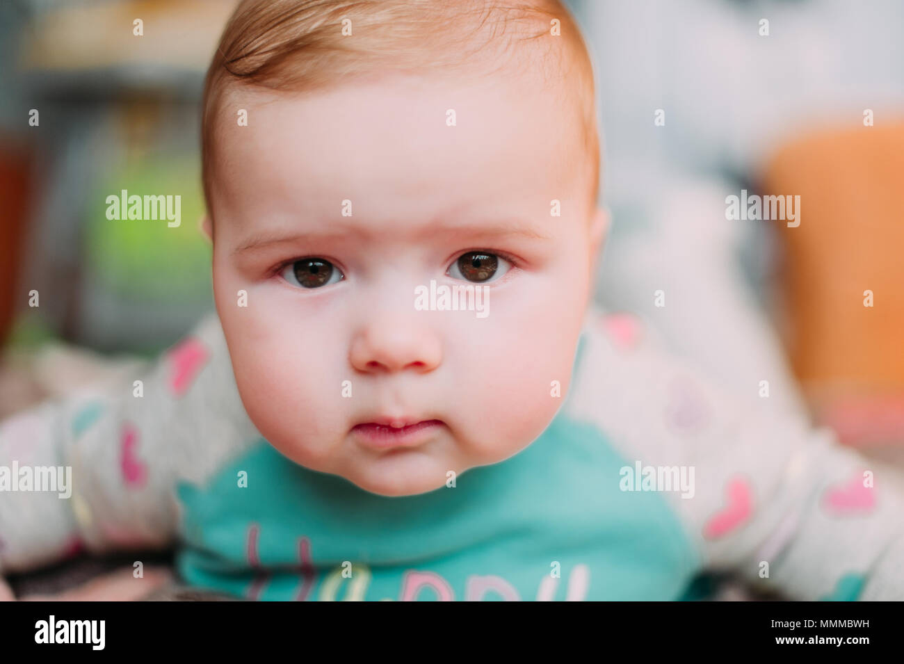 250c17ddb little cute baby toddler on carpet close up smiling adorable happy  emotional playing at home