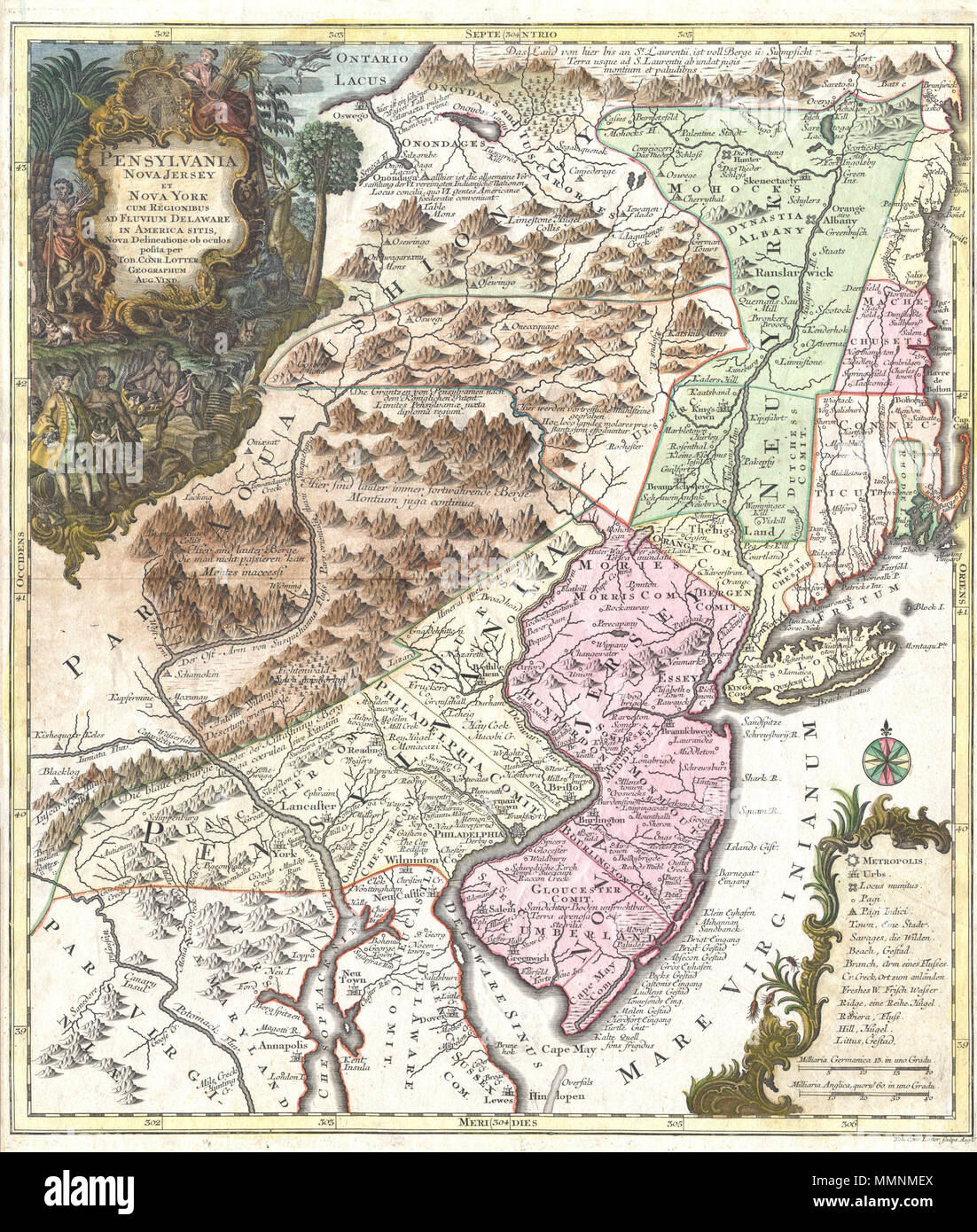 English a fine and rare 1756 example of tobias conrad lotters a fine and rare 1756 example of tobias conrad lotters important map of the middle atlantic and new england regions during the british colonial period thecheapjerseys Gallery