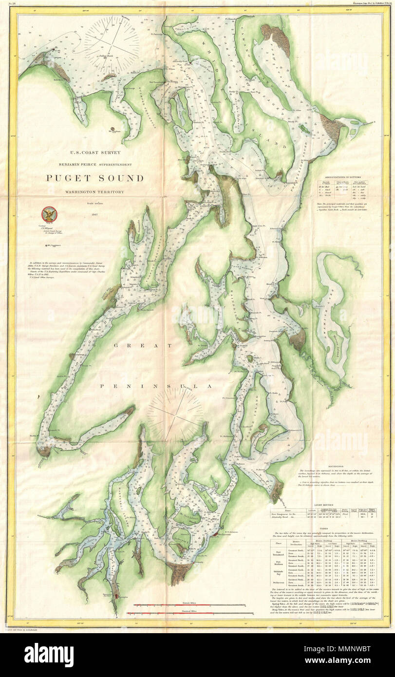 English This Is A Very Uncommon Us Coast Survey Maritime Map Or