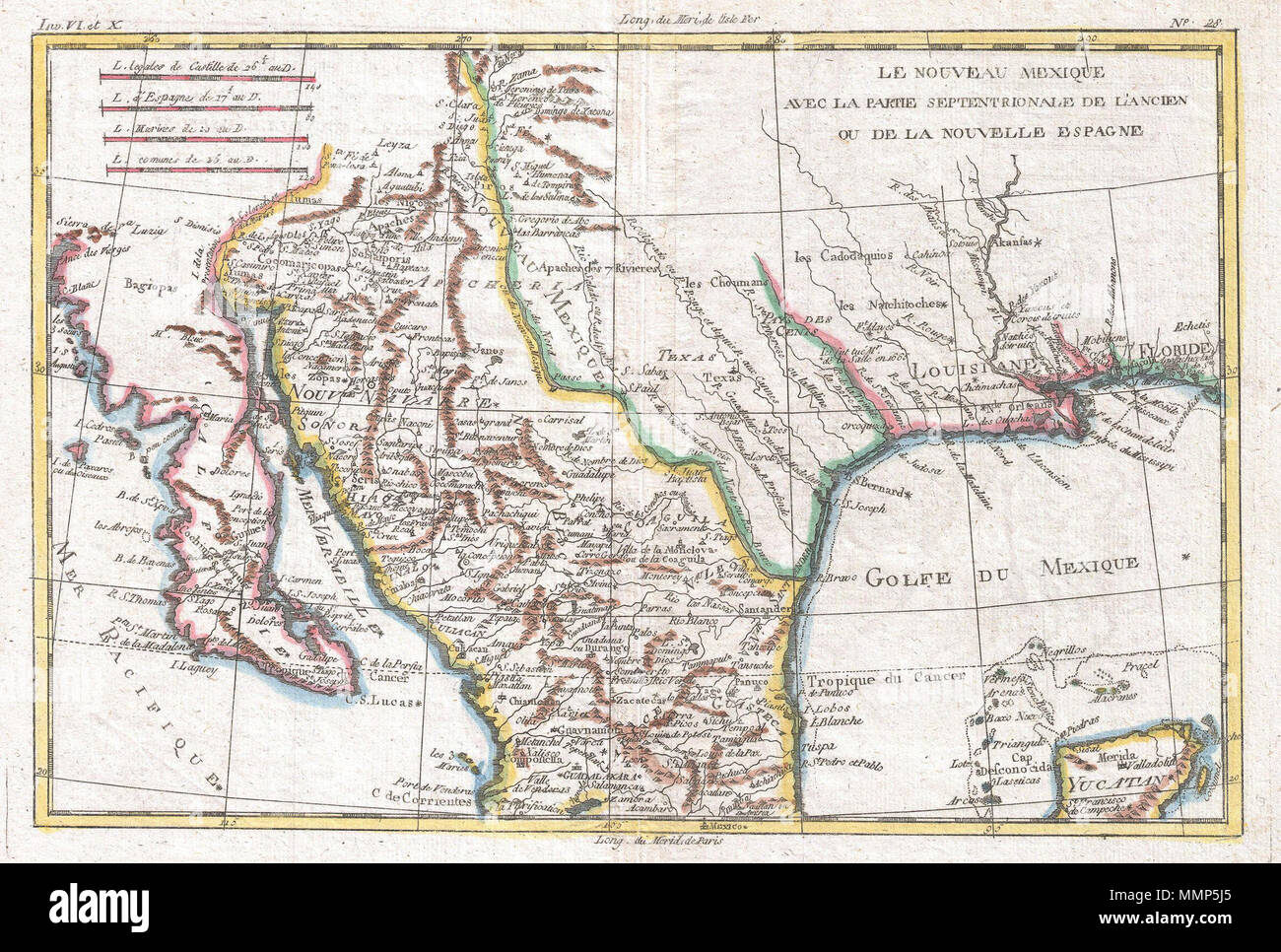 Map Of Texas And Florida.English This Is A Beautiful C 1780 Bonne Map Of Northern Mexico