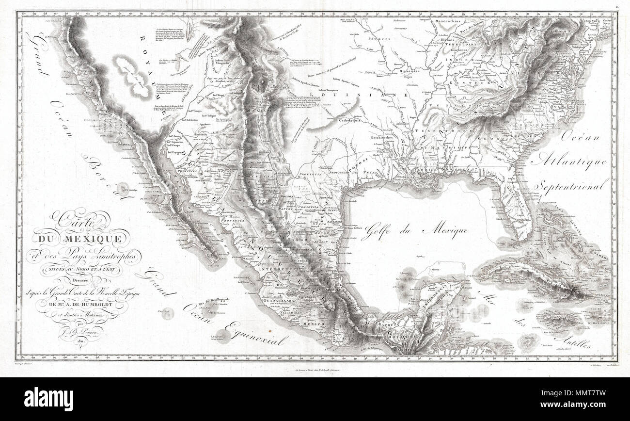English A Seminal 1811 Map Of The Spanish Colonial Viceroyalty Of