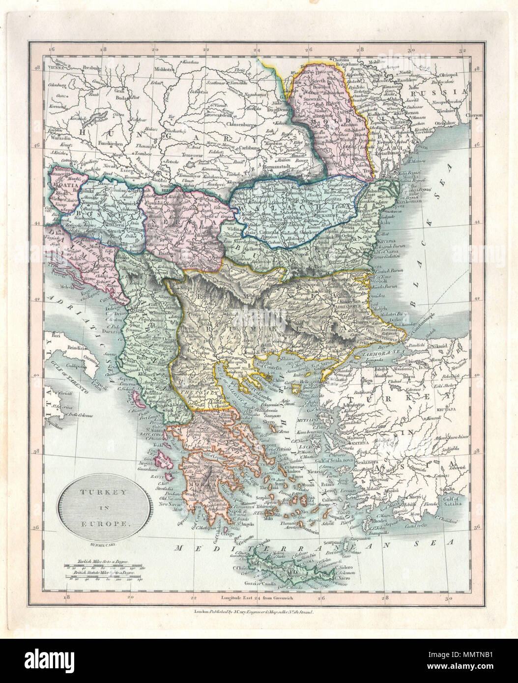 English this is a hand colored 1836 map of greece the balkans english this is a hand colored 1836 map of greece the balkans under the rule of turkey by john cary includes the modern day states of greece albania publicscrutiny Image collections