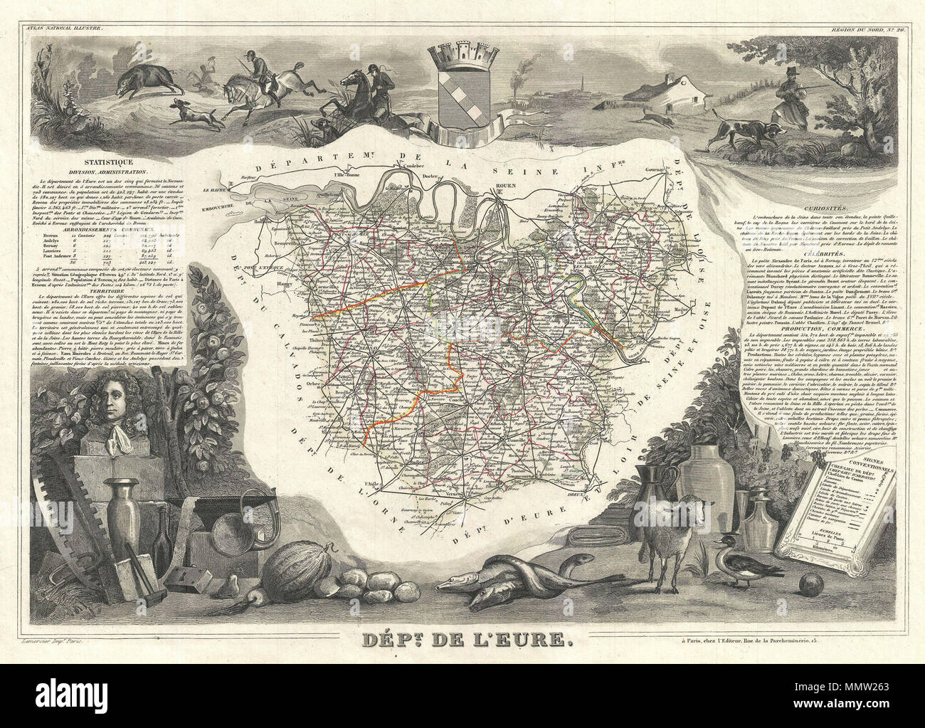 English This Is A Fascinating 1852 Map Of The French Department Of