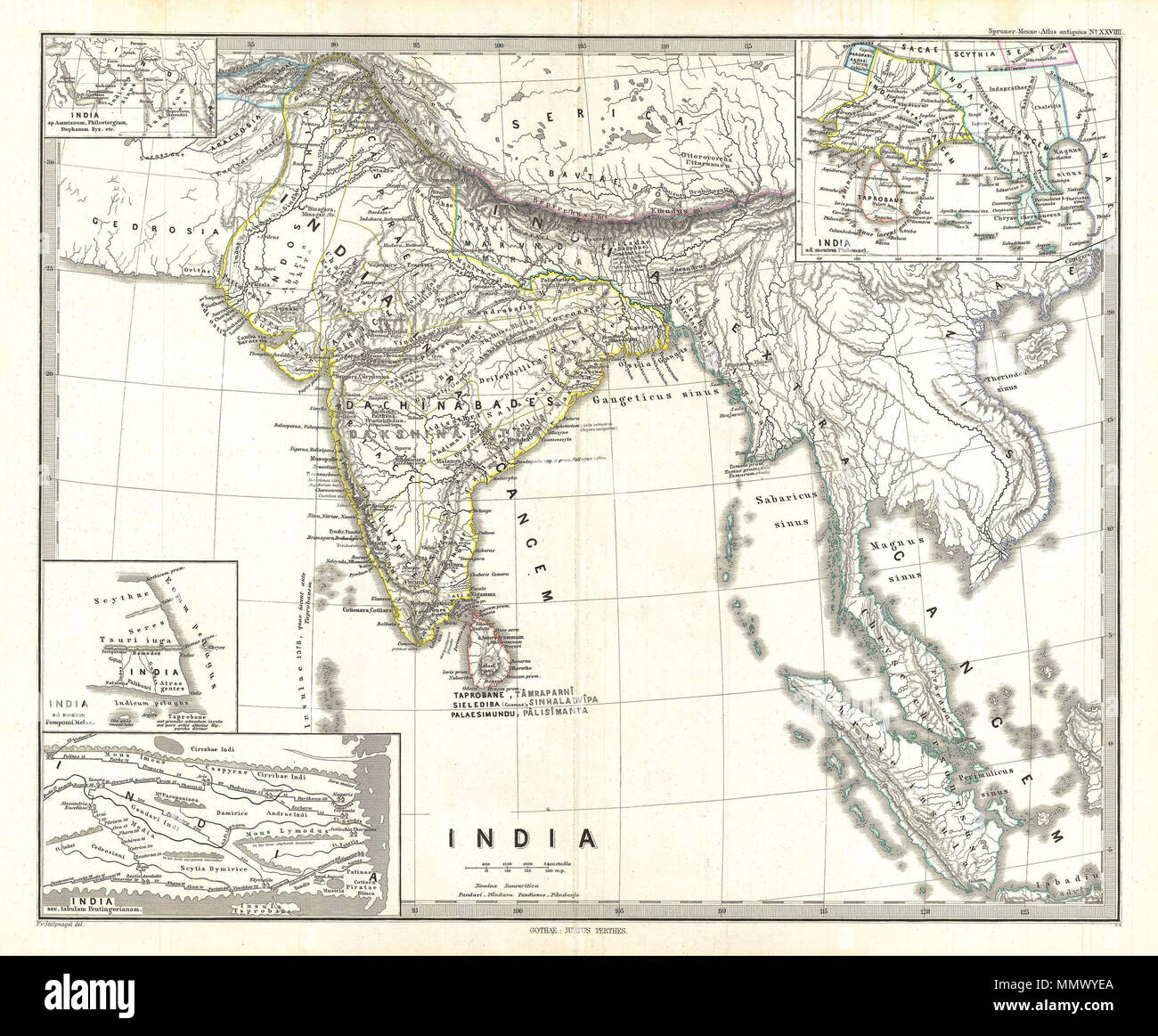 Map Of Upper Asia.English This Is Karl Von Spruner S 1865 Map Of India And Southeast