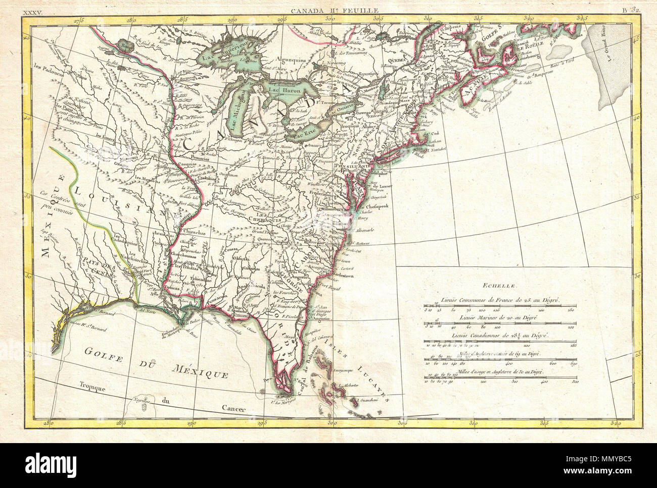 North America Map Mississippi River.English Printed In 1776 On The Cusp Of The American Revolutionary