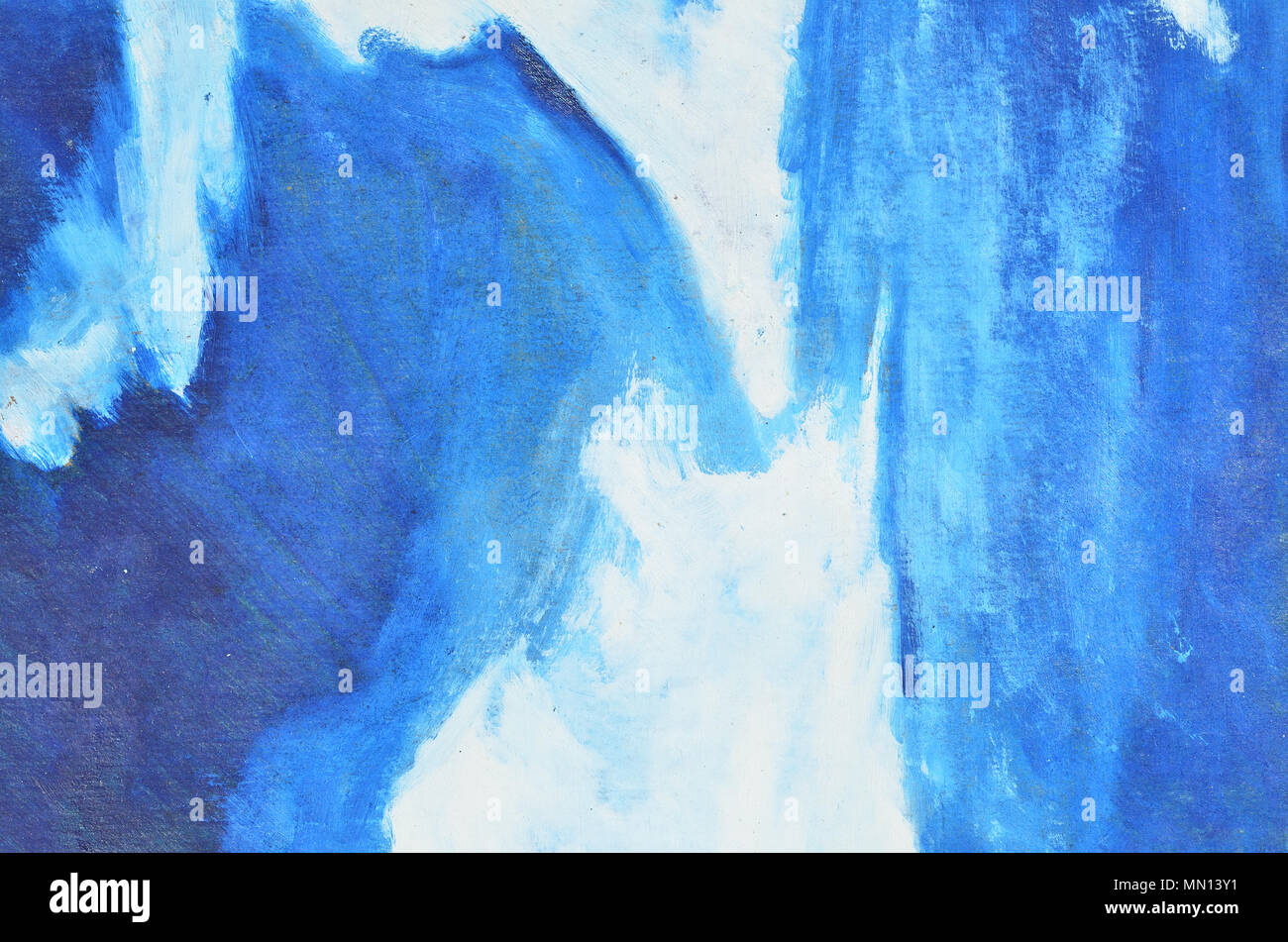 White And Dark Blue Watercolor Paint On Canvas Texture Background Wallpaper