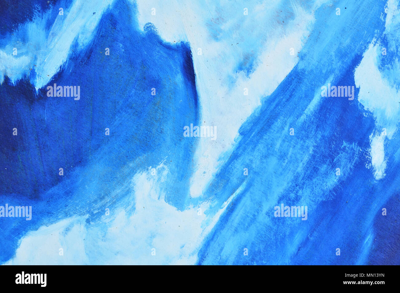 Light Blue And White Smears Of Watercolor Paint On A Thick Canvas Background Texture Wallpaper
