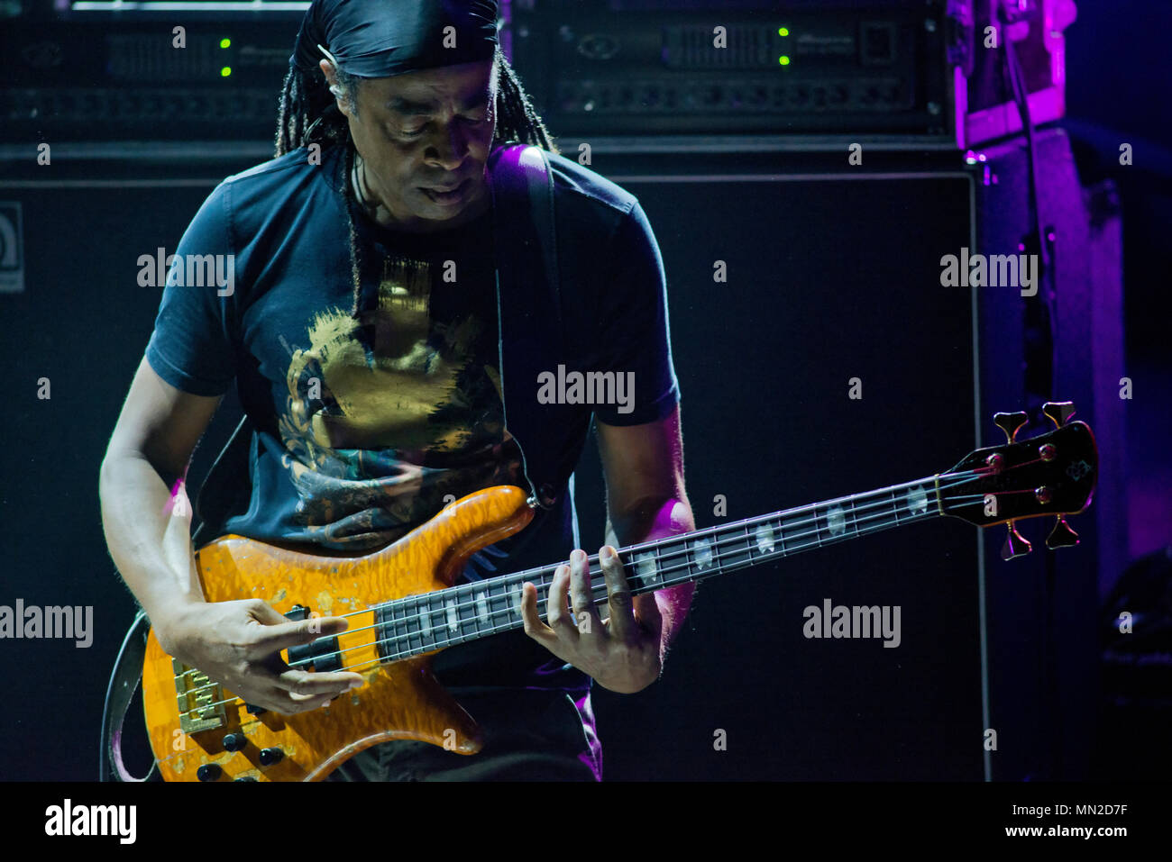 Bass player Doug Wimbish, from Living Colour - Stock Image