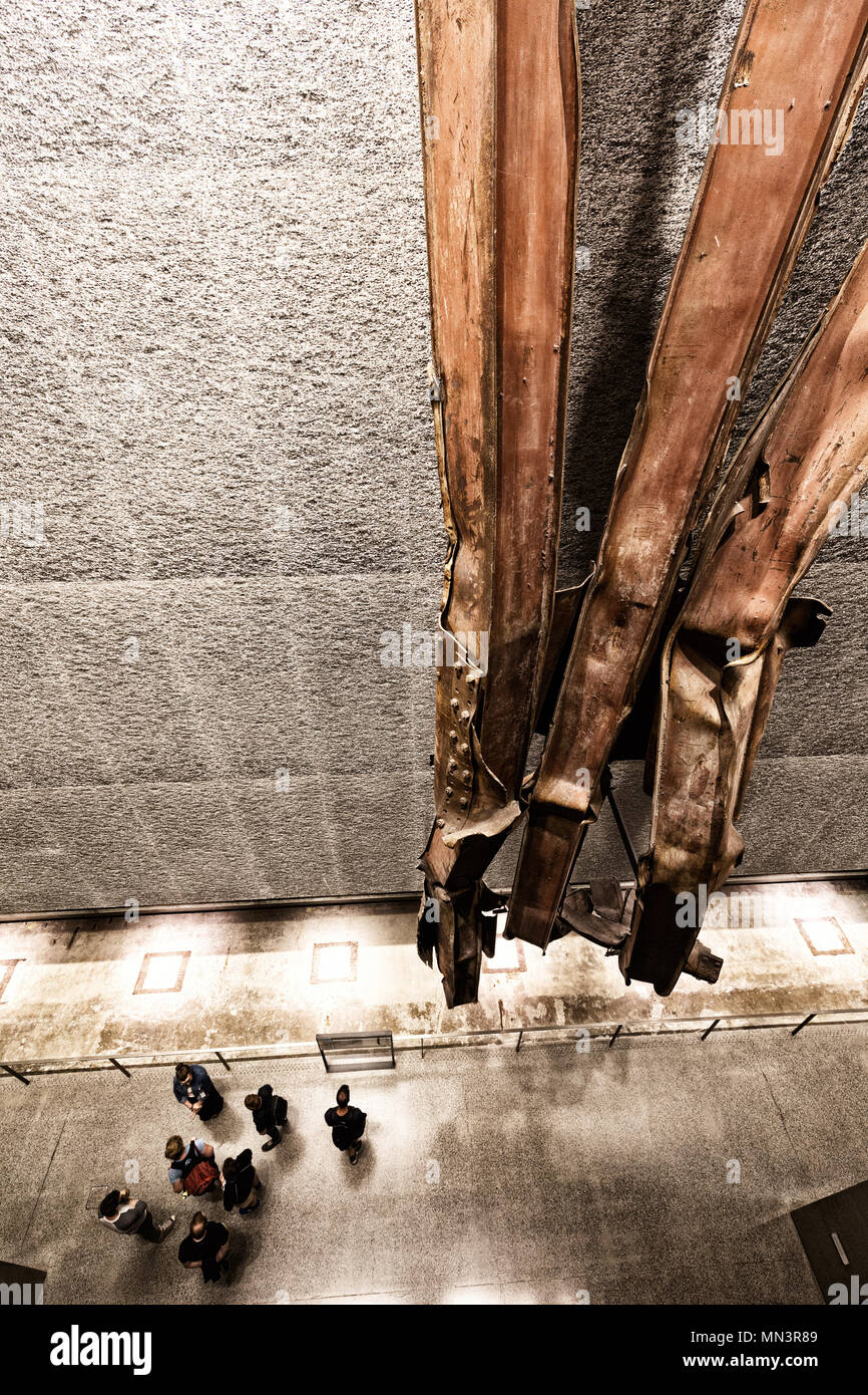 tourists-and-twisted-steel-girders-in-th