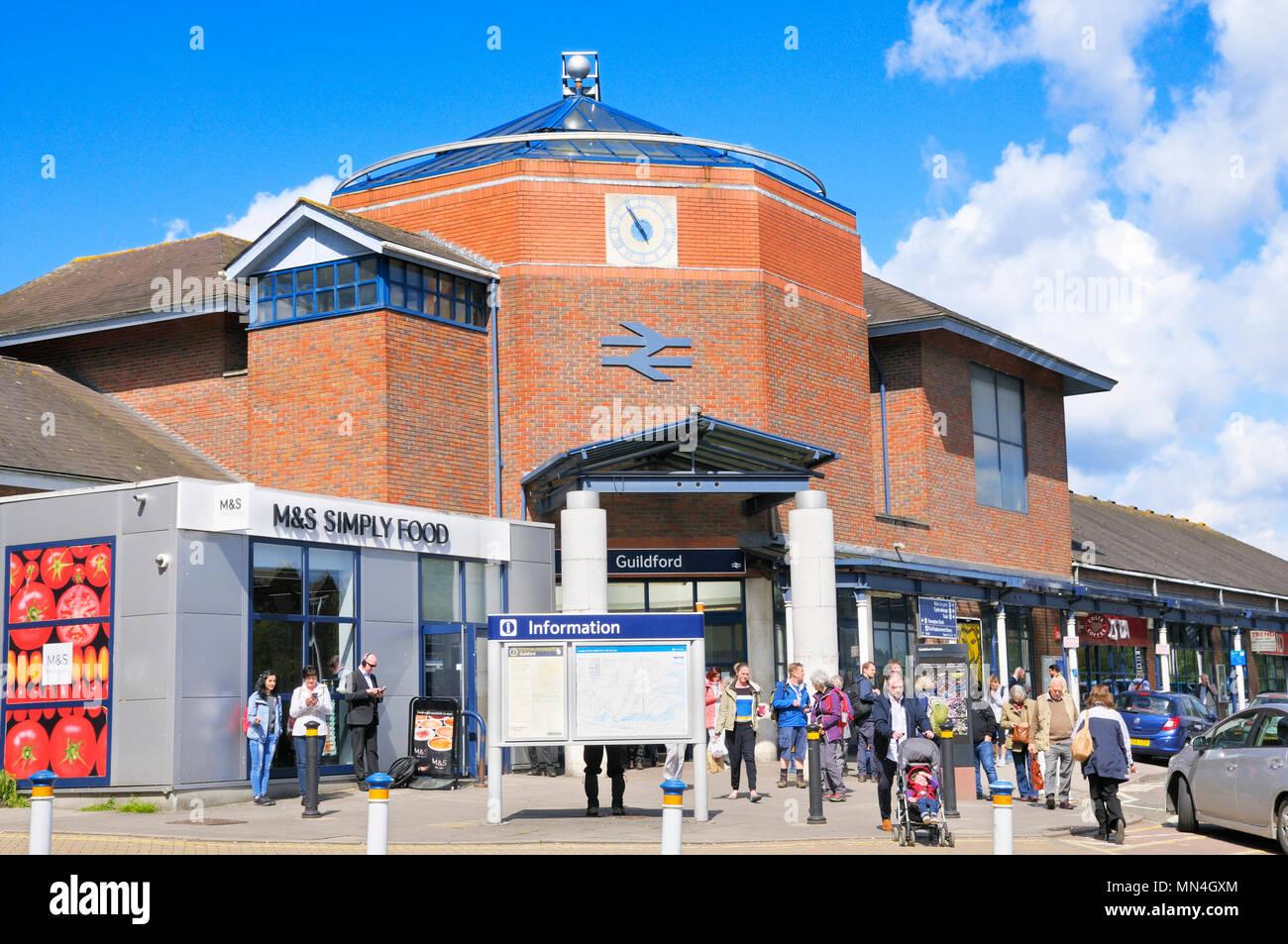 Guildford train station, Surrey, England, UK - Stock Image