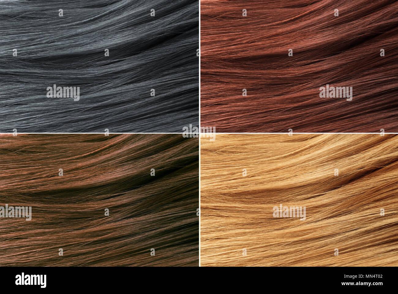 Hair Colors Palette Hair Texture Background Hair Colours Set