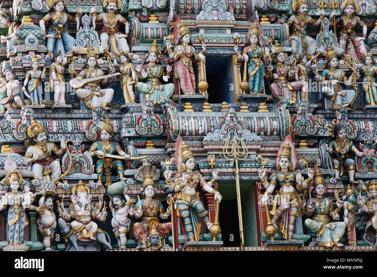 Hindu temple in Singapore - Stock Image