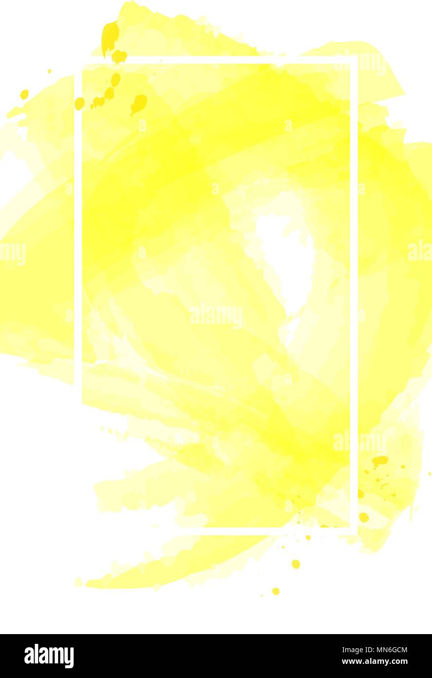 yellow watercolor abstract blank poster template background texture