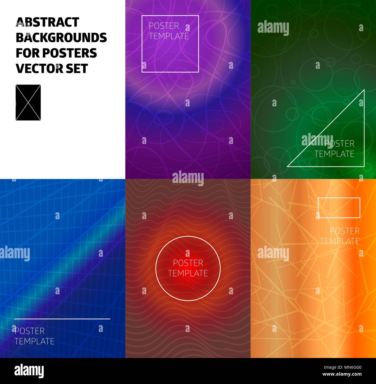 minimal vector covers design cool halftone gradients future poster