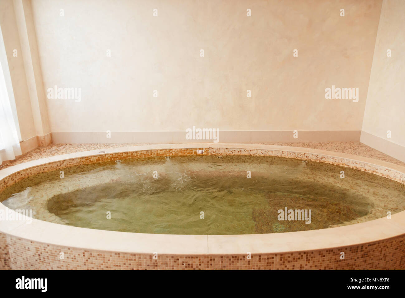 Jacuzzi baths in hotel spa center Stock Photo: 185207884 - Alamy