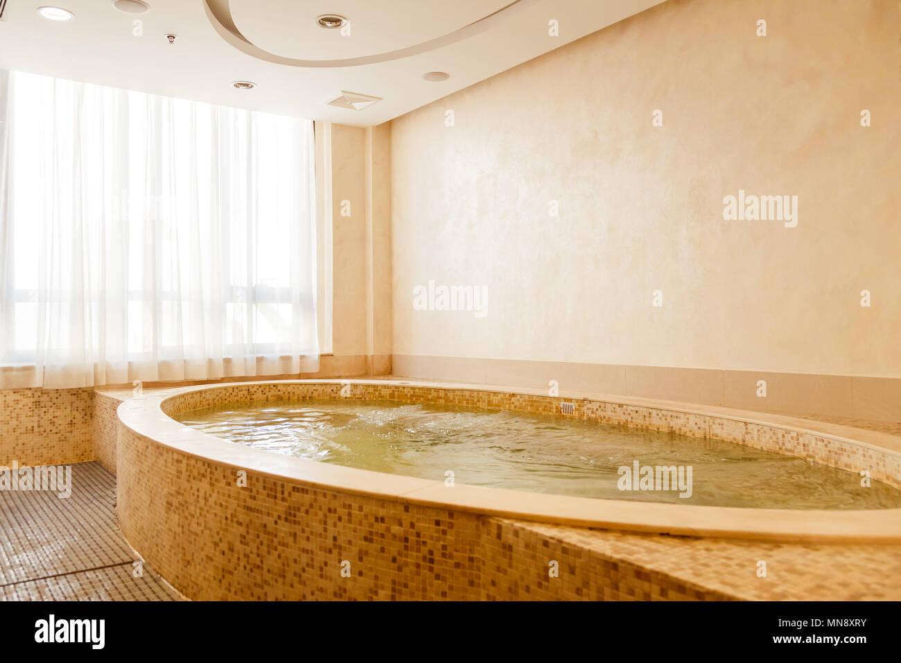Jacuzzi baths in hotel spa center Stock Photo: 185208127 - Alamy