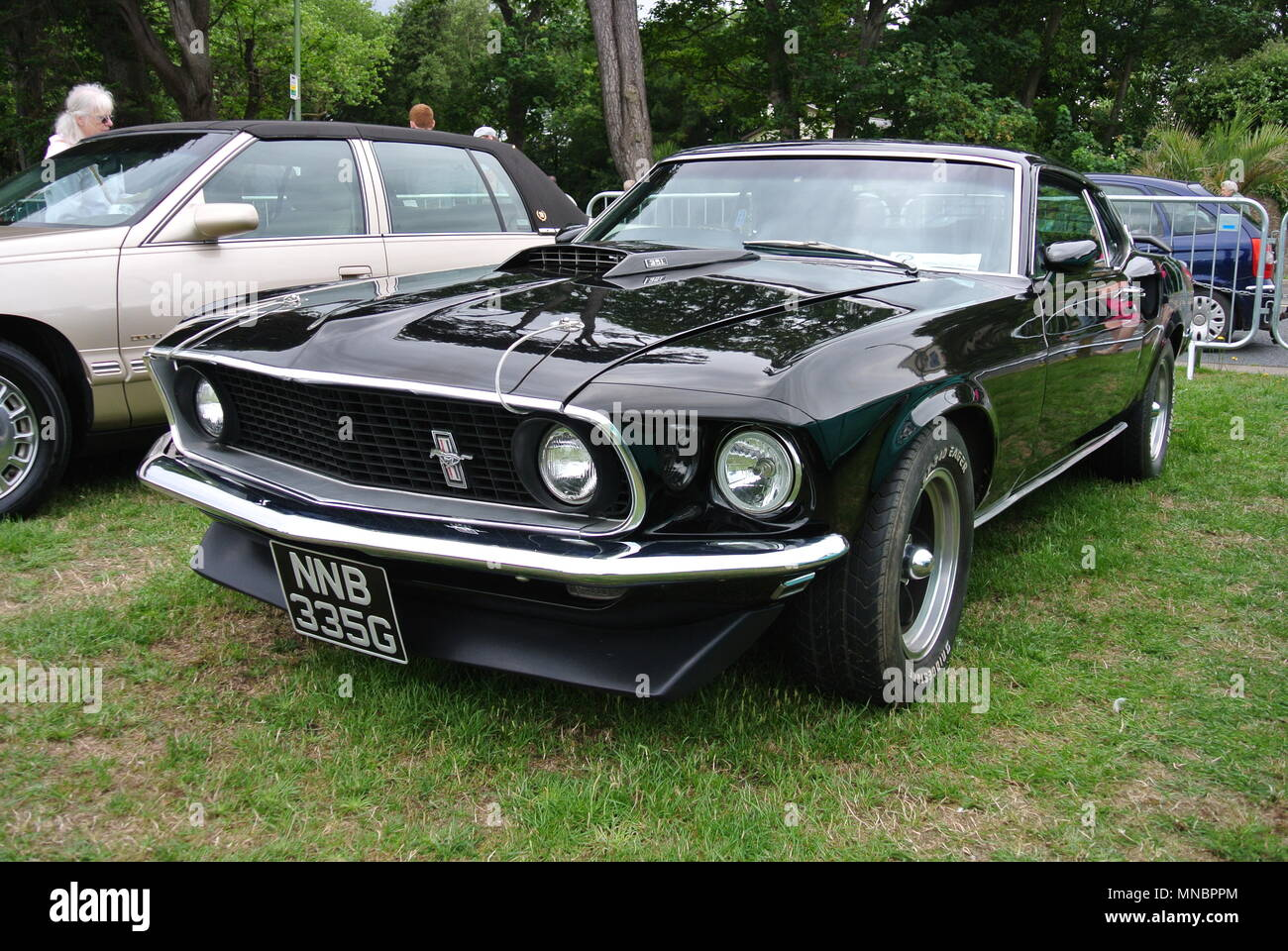 A Ford Mustang Parked On Display At The English Riviera Classic - Classic pony car shows