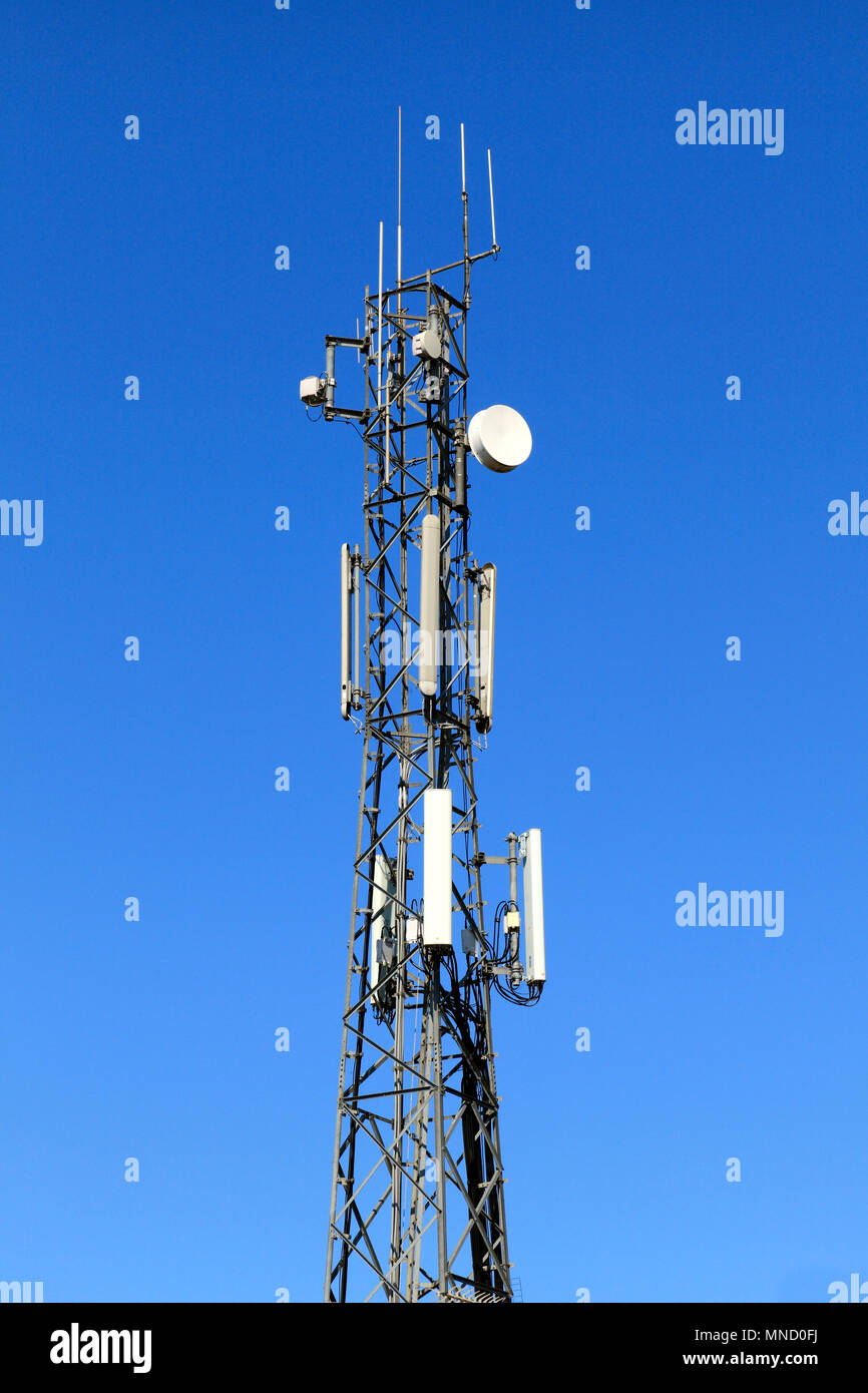 communications mast tower signals satellite dish radio