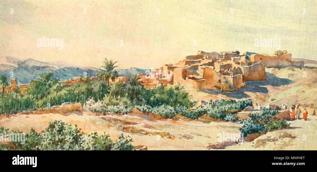 On the Edge of the Desert - Algeria, circa 1906 - Stock Image