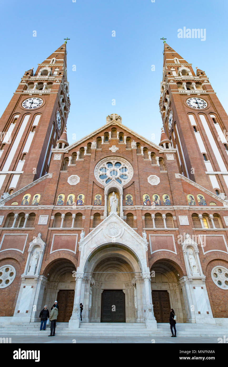 Szeged Votive Church, symbol of the city and most important tourist attraction - Stock Image