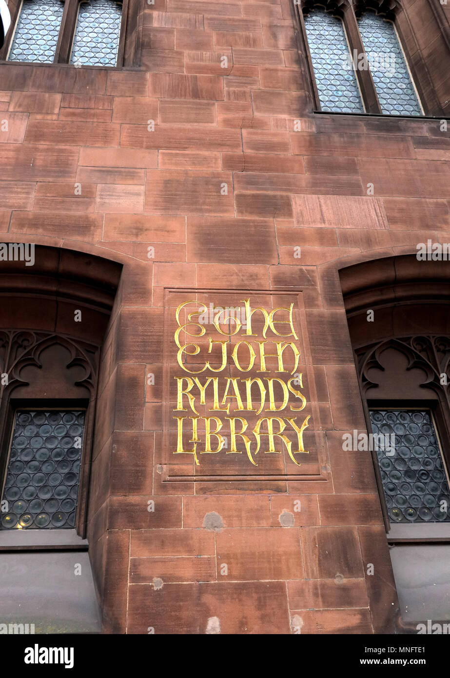 @HotpixUK,Gotonysmith,John Rylands,Library,city,centre,outside,building,stone,Victorian,doors,entrance,sandstone,front,neo,gothic,Enriqueta Augustina Rylands,The University of Manchester Library,University,library,William Caxton,historic,history,historic buildings,tourist,tourism,reader,readers,borrowers,historic library,historic libraries,Rylands Library,gothic architectural style,architecture,exterior,gold,lettering,sign,street view,arts crafts