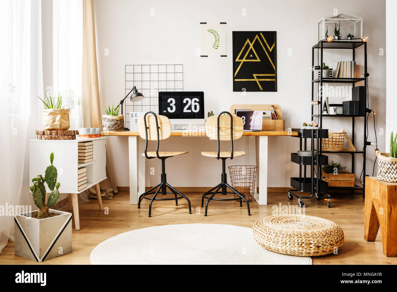 Modern interior of living room poster u pixers u we live to change
