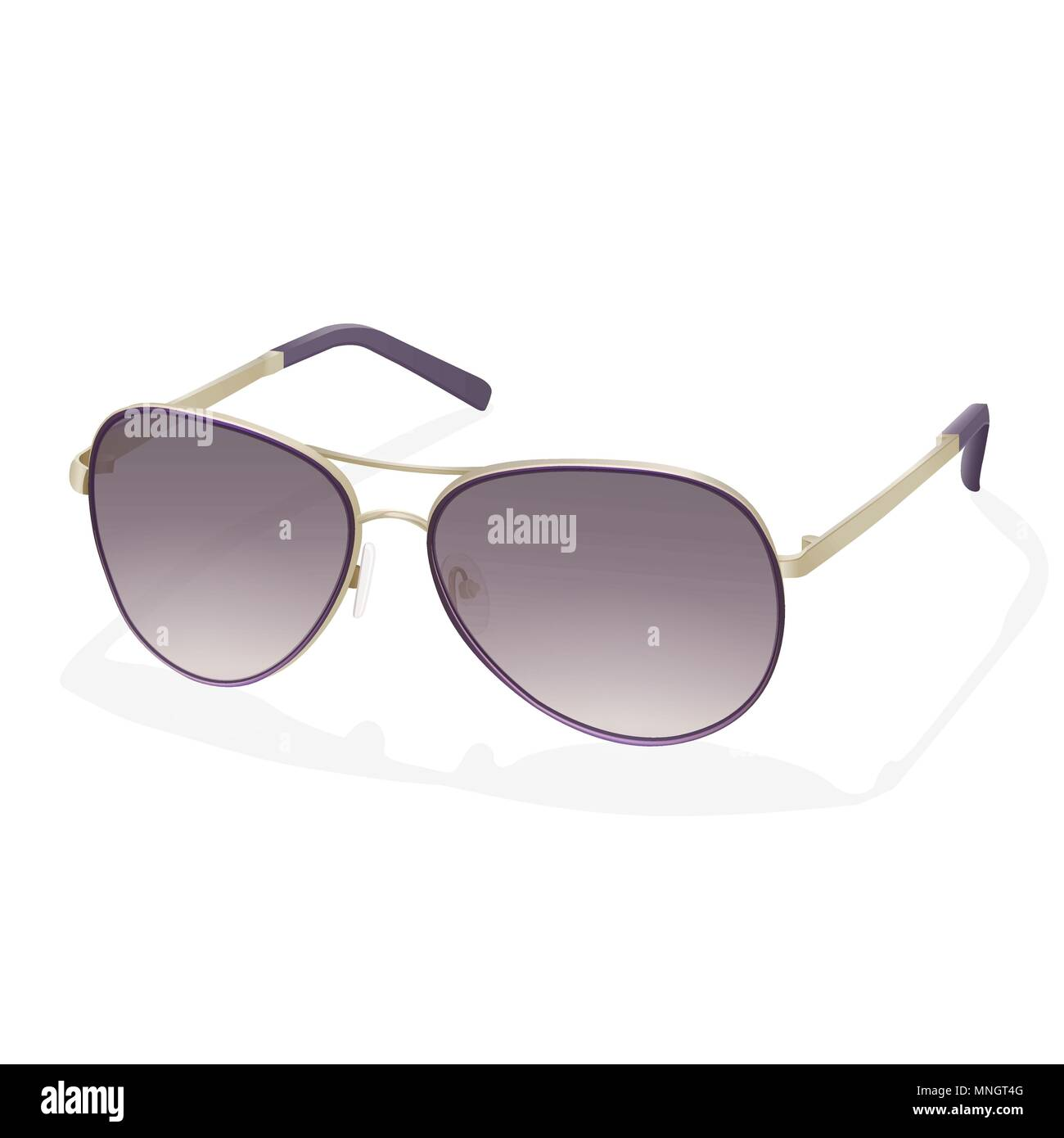 e2fdd14a3045 Colorful stylish fashion spectacles with purple sunscreen lenses and iron  golden rim glasses