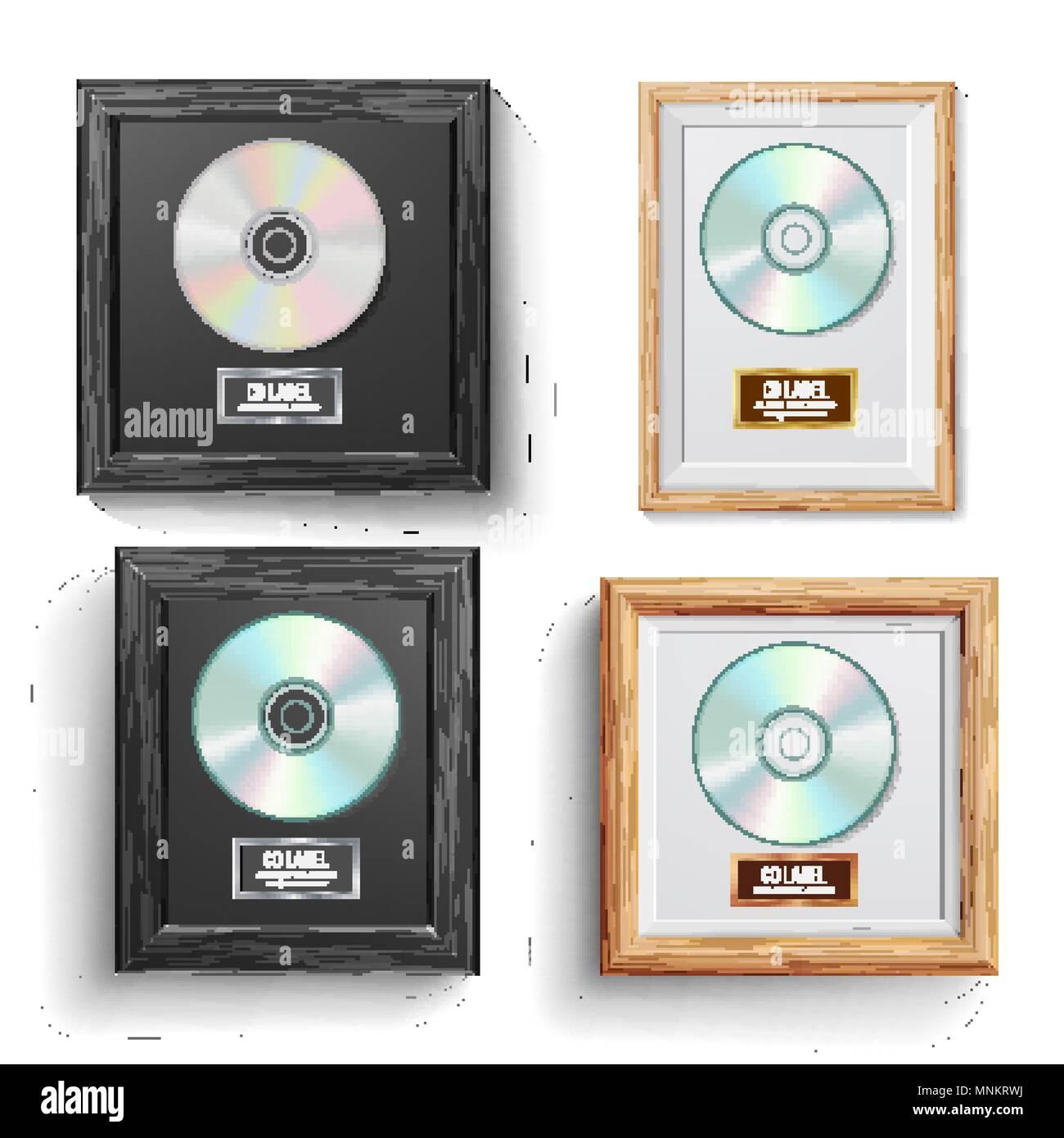 CD Disc Award Set Vector. Modern Ceremony. Best Seller. Musical ...