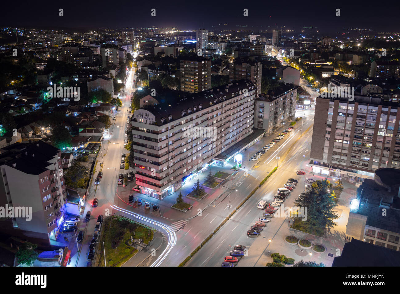 nis-serbia-may-16-2018-nighttime-citysca
