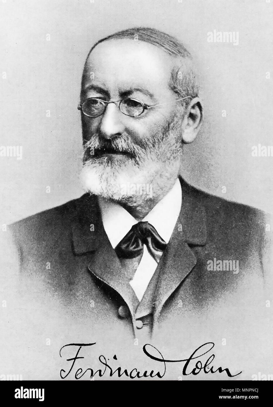 FERDINAND COHN (1828-1898) German biologist - Stock Image