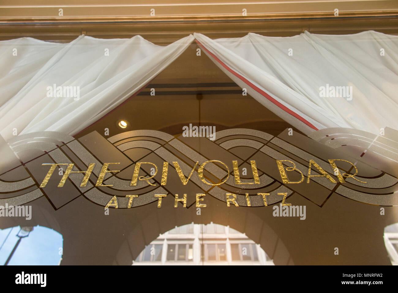 The famous Rivoli Bar at the Ritz Hotel in London - Stock Image