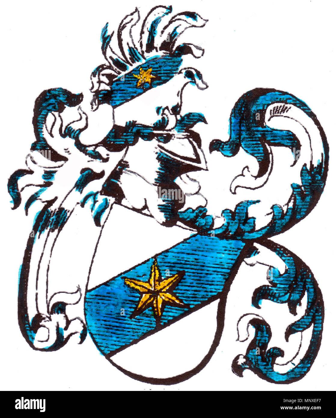 . Deutsch: Stammwappen der Alberti von Enno vor 1537 . before 1537/1859 (book). Siebmacher (?) 1140 Stammwappen der Alberti von Enno vor 1537 - Stock Image