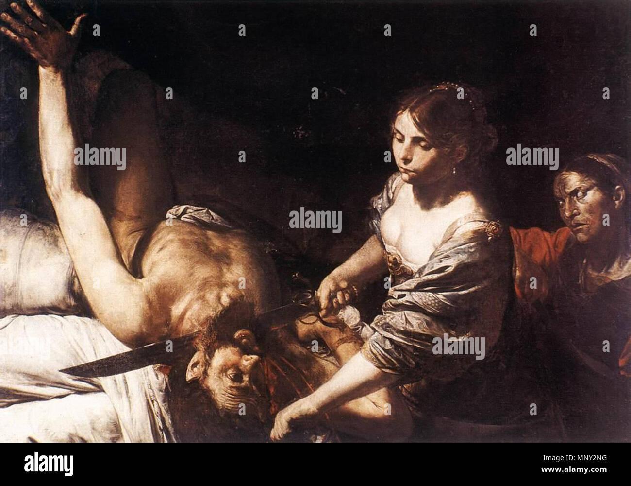 Judith  and Holofernes   circa 1626.   1218 Valentin de Boulogne - Judith and Holofernes - WGA24242 - Stock Image
