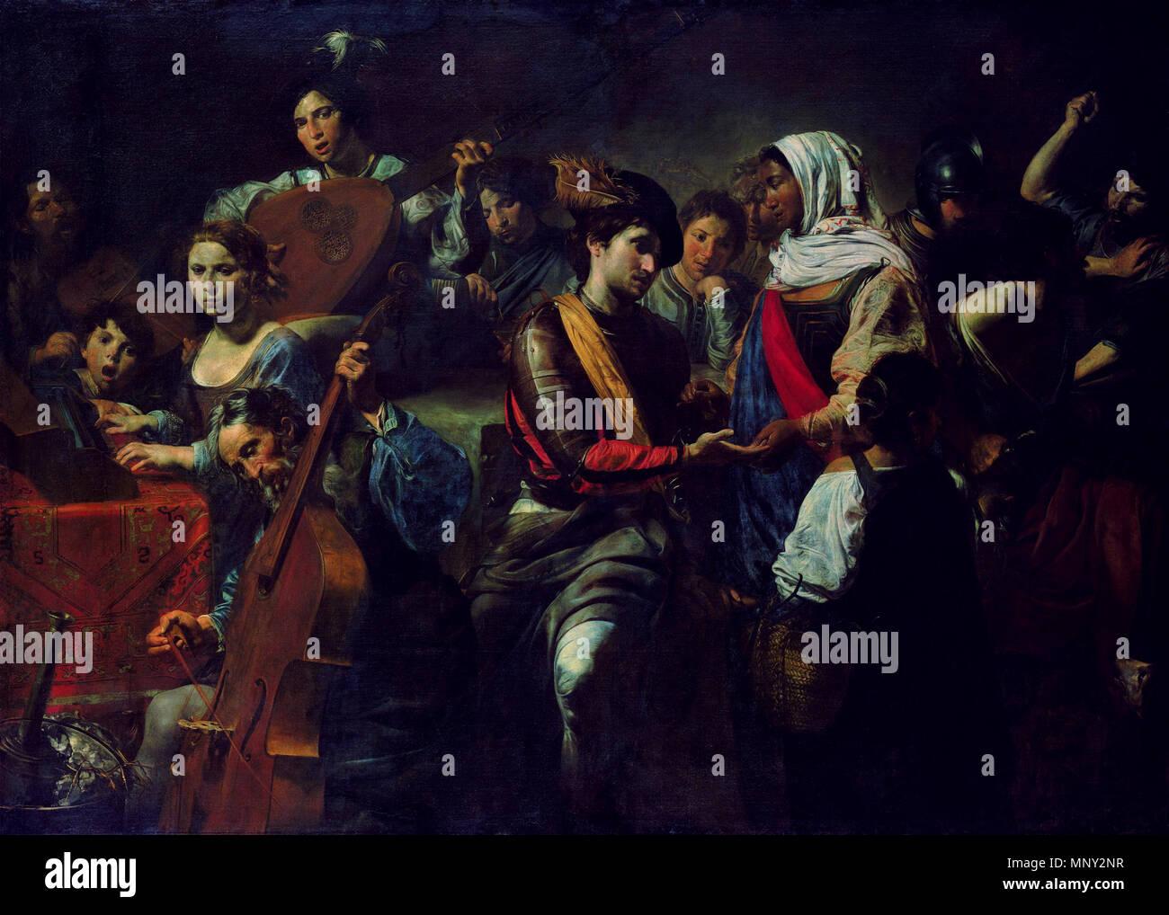 . Italiano: La Buona ventura . 17th century. Valentin de Boulogne - Vienna, Liechtenstein Museum 1218 Valentin de Boulogne - La Buona ventura - Stock Image