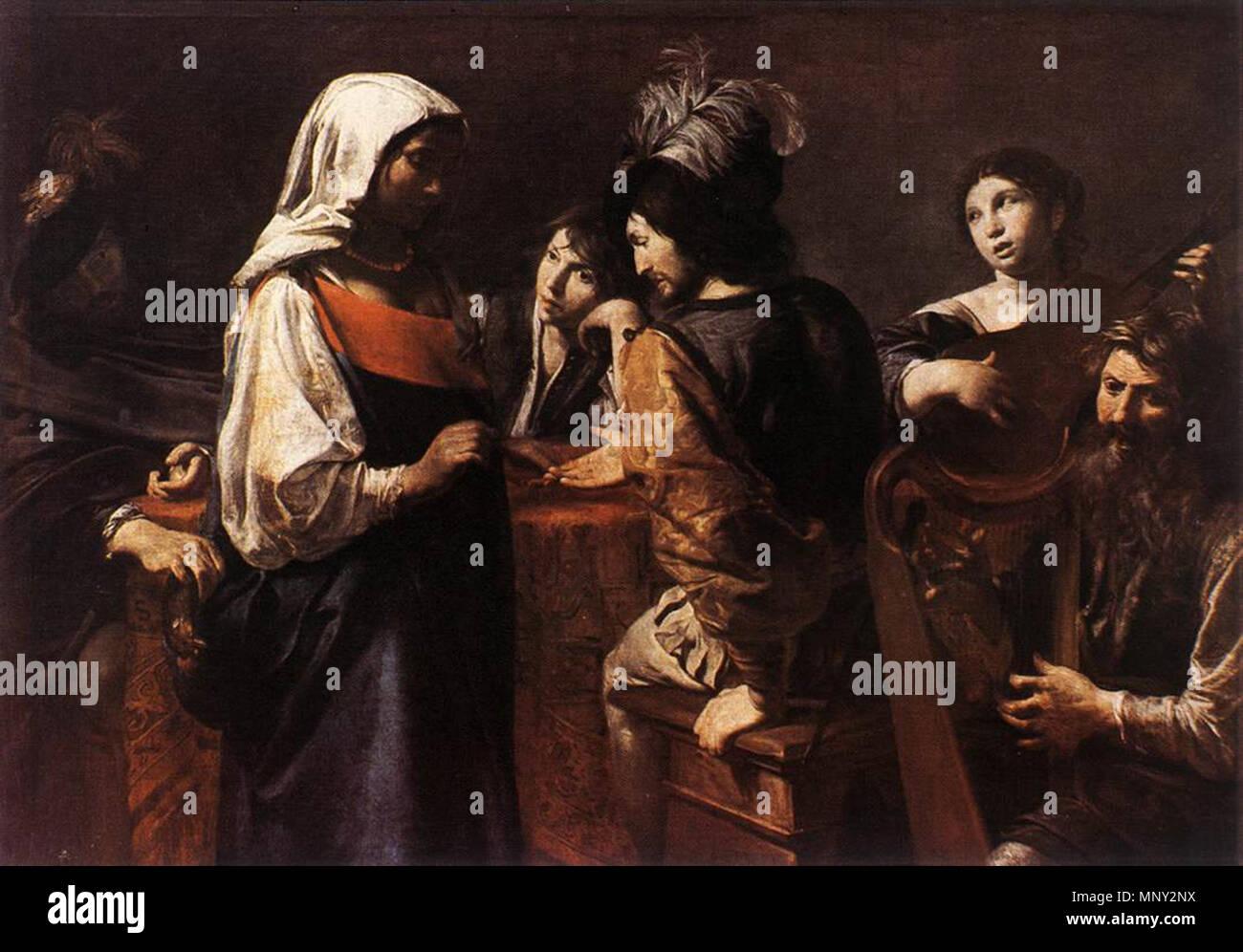 The Fortune Teller   circa 1628.   1218 Valentin de Boulogne - The Fortune Teller - WGA24239 - Stock Image