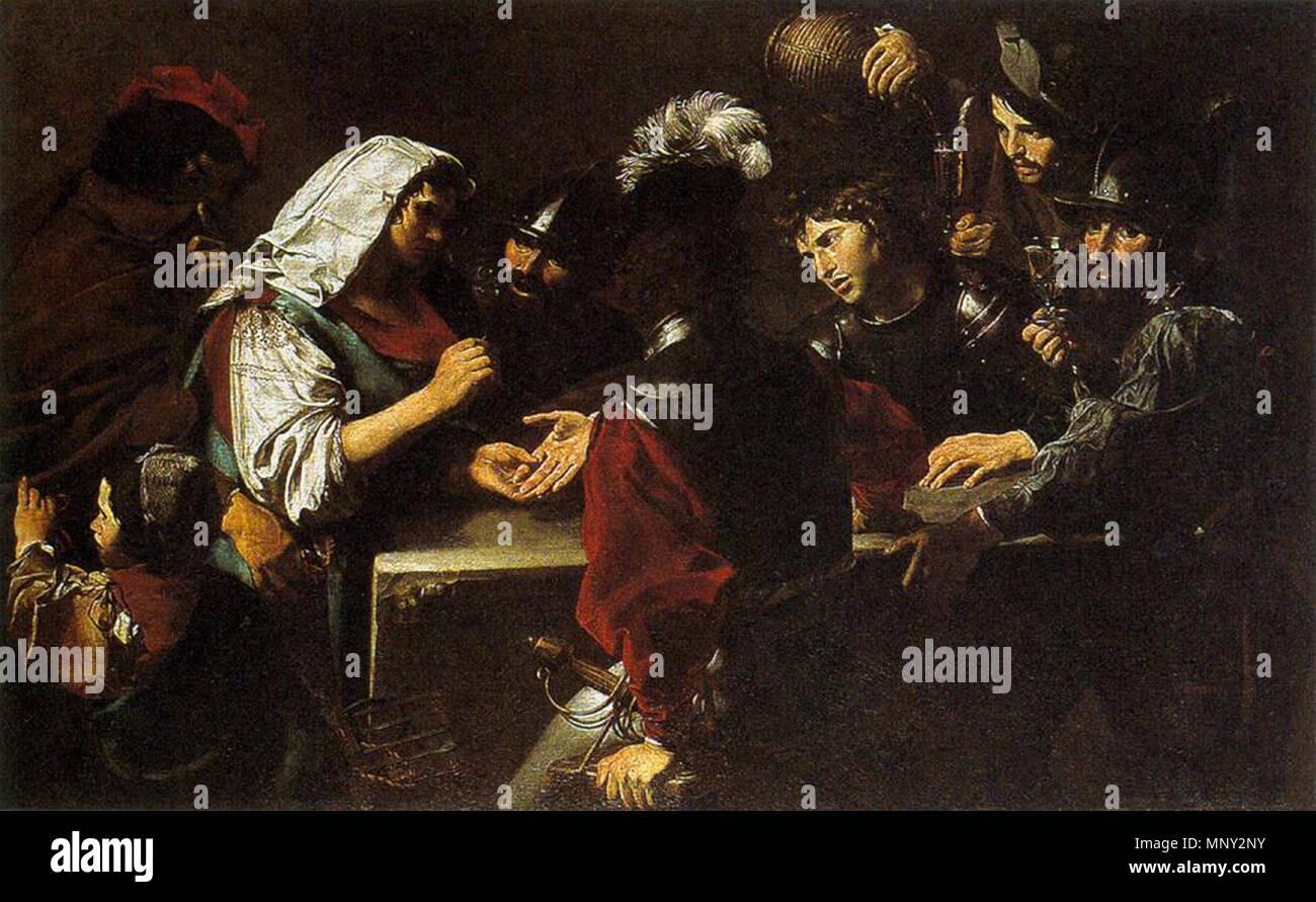 The Fortune Teller   circa 1620.   1218 Valentin de Boulogne - The Fortune Teller - WGA24240 - Stock Image
