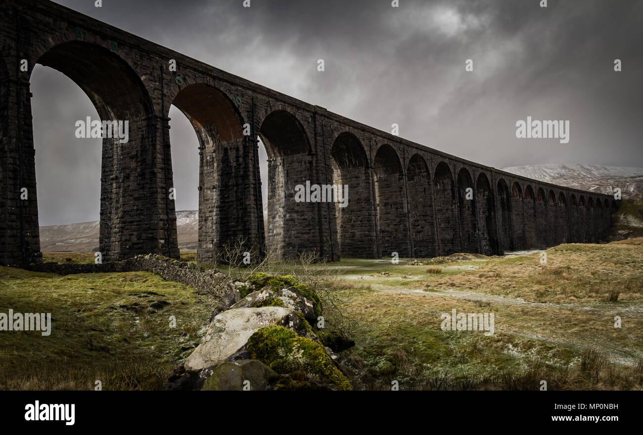 Ribblehead Viaduct, Yorkshire, England. - Stock Image