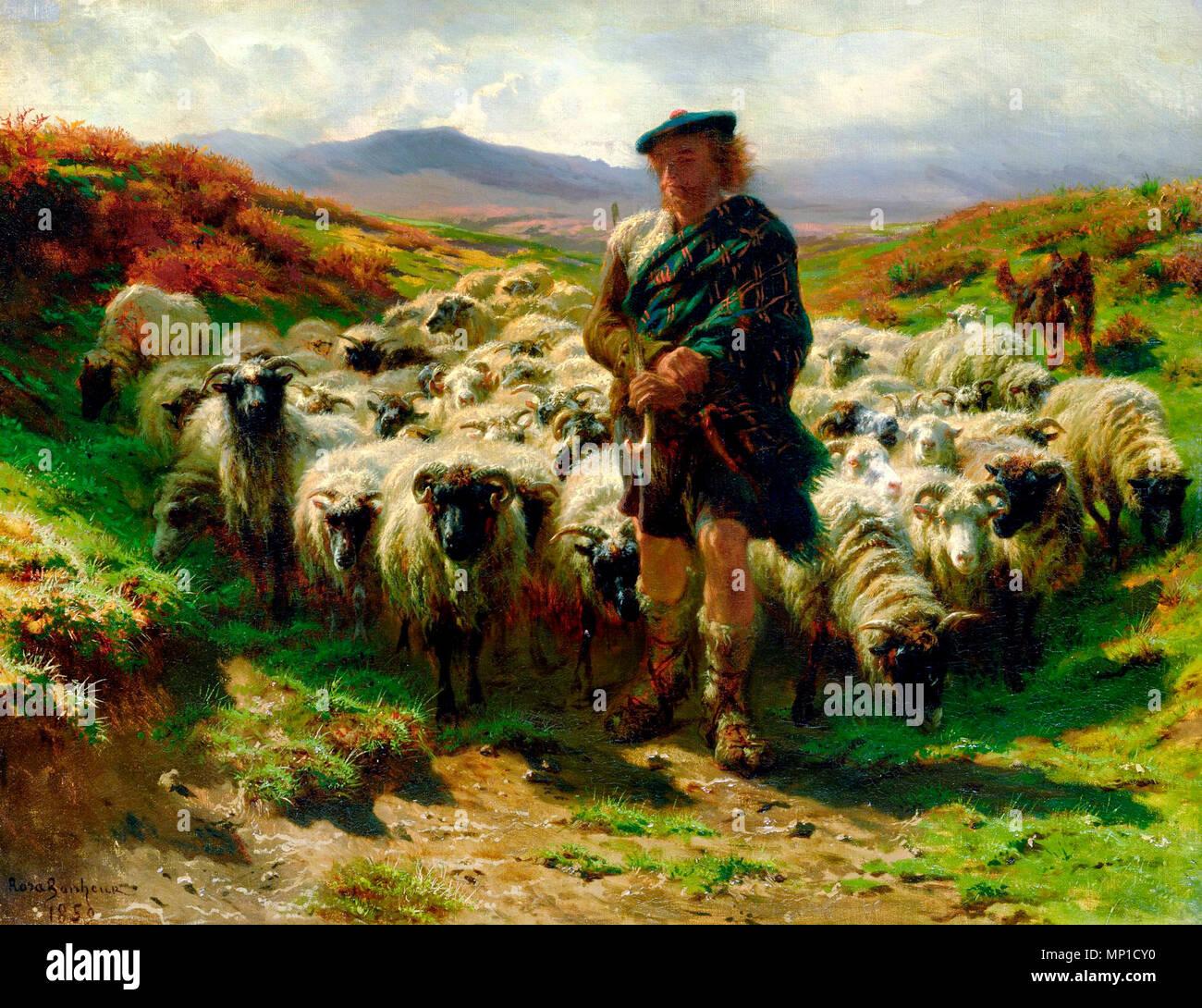The Highland Shepherd, Rosa Bonheur, circa 1859 - Stock Image