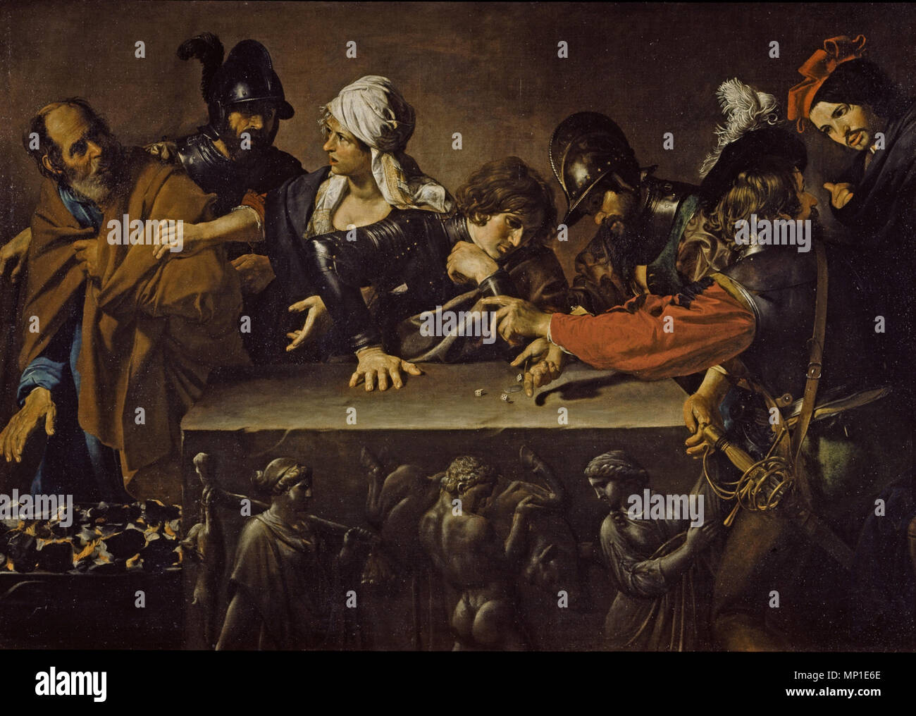 1218 Valentin de Boulogne - Negazione di Pietro - Stock Image