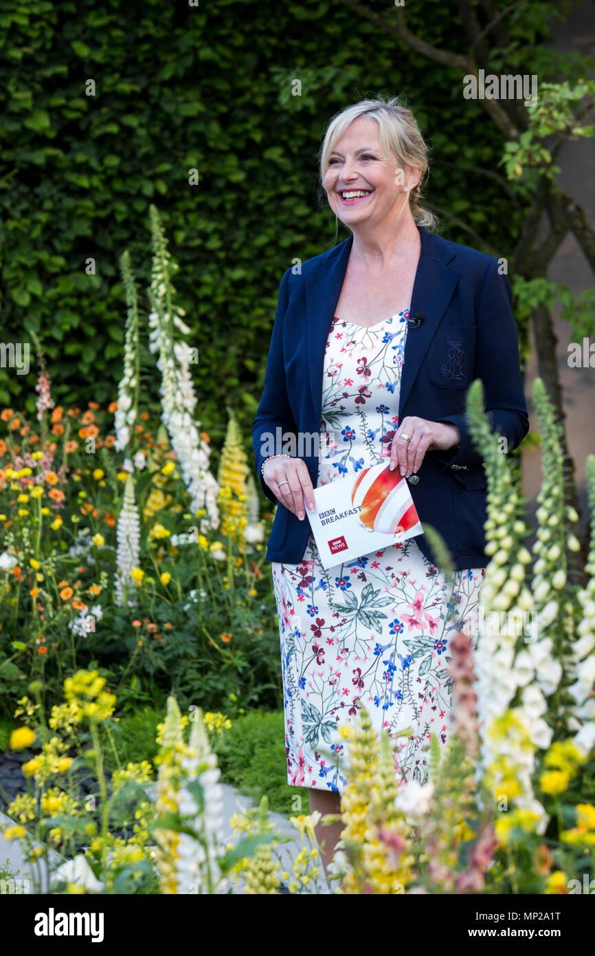 London, UK. 21 May 2018. BBC weather presenter Carol Kirkwood. Press Day