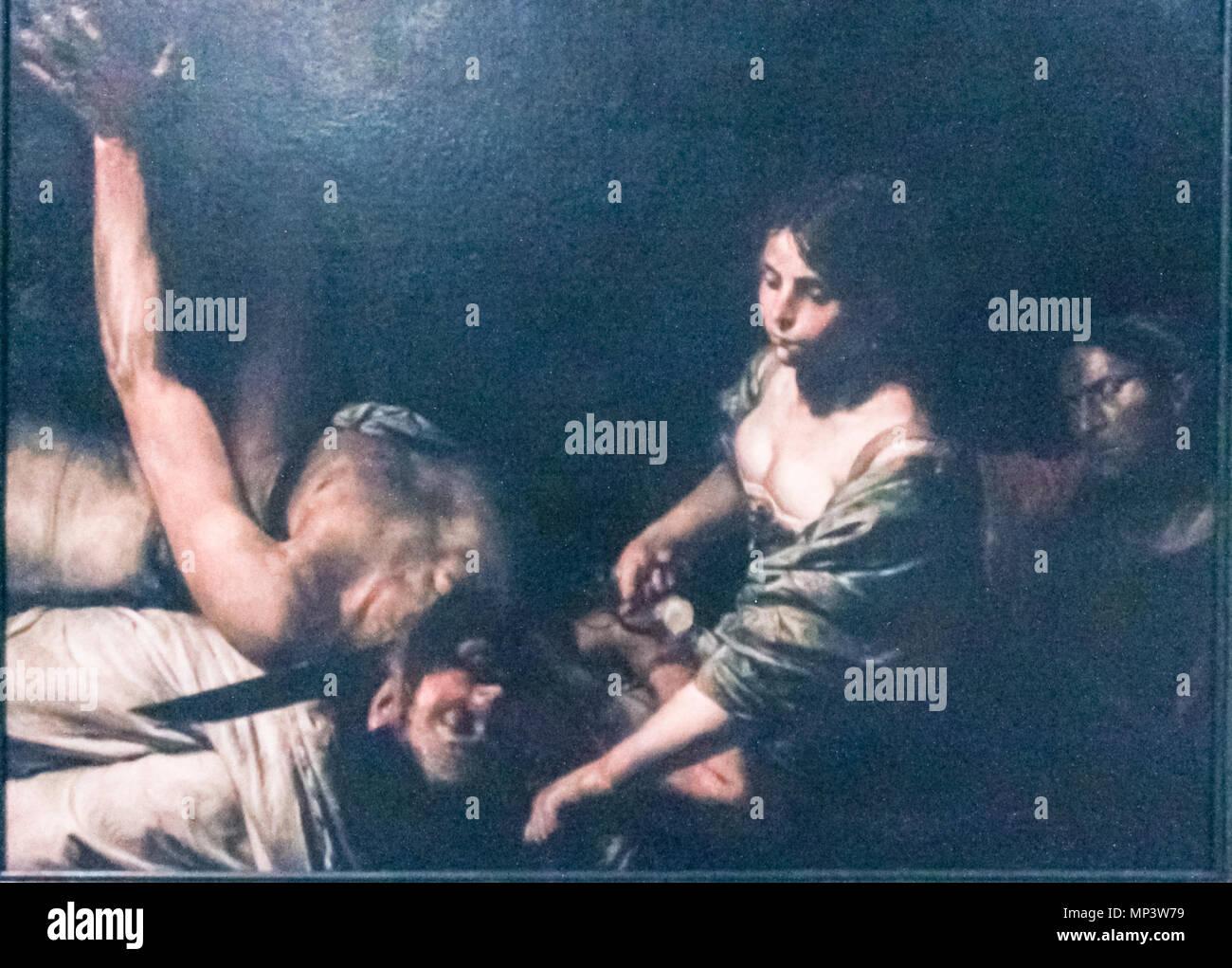 Judith and Holofernes   circa 1626.   1218 Valentin de Boulogne - Judith and Holofernes - Stock Image