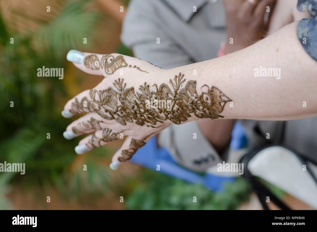 Mehndi Ceremony Mp : Henna mehndi hand woman stock photos