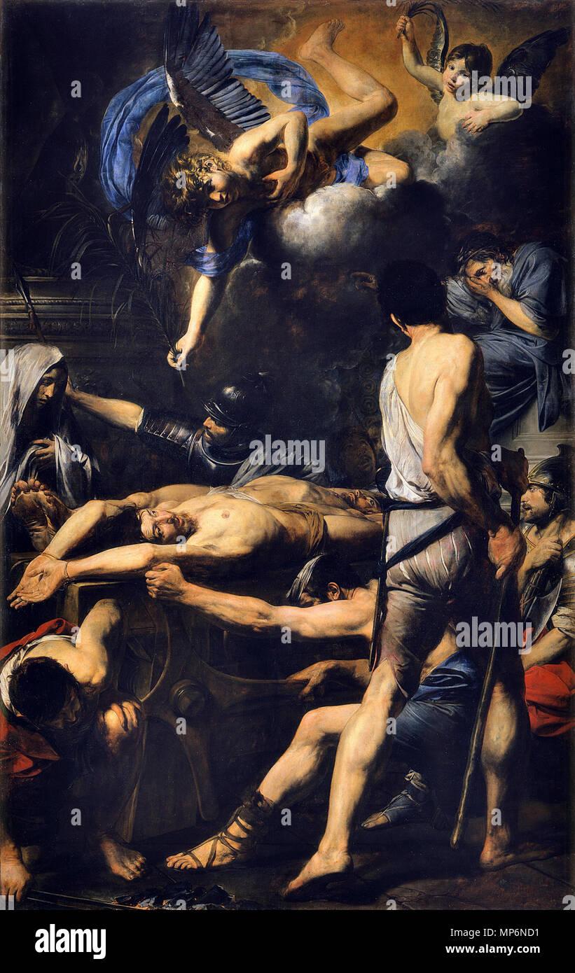 EKTA 07485 (13X18 cm) EKTA 07485 (13X18 cm) 866 Martyrdom of St Processo and St Martiniano, by Valentin de Boulogne - Stock Image