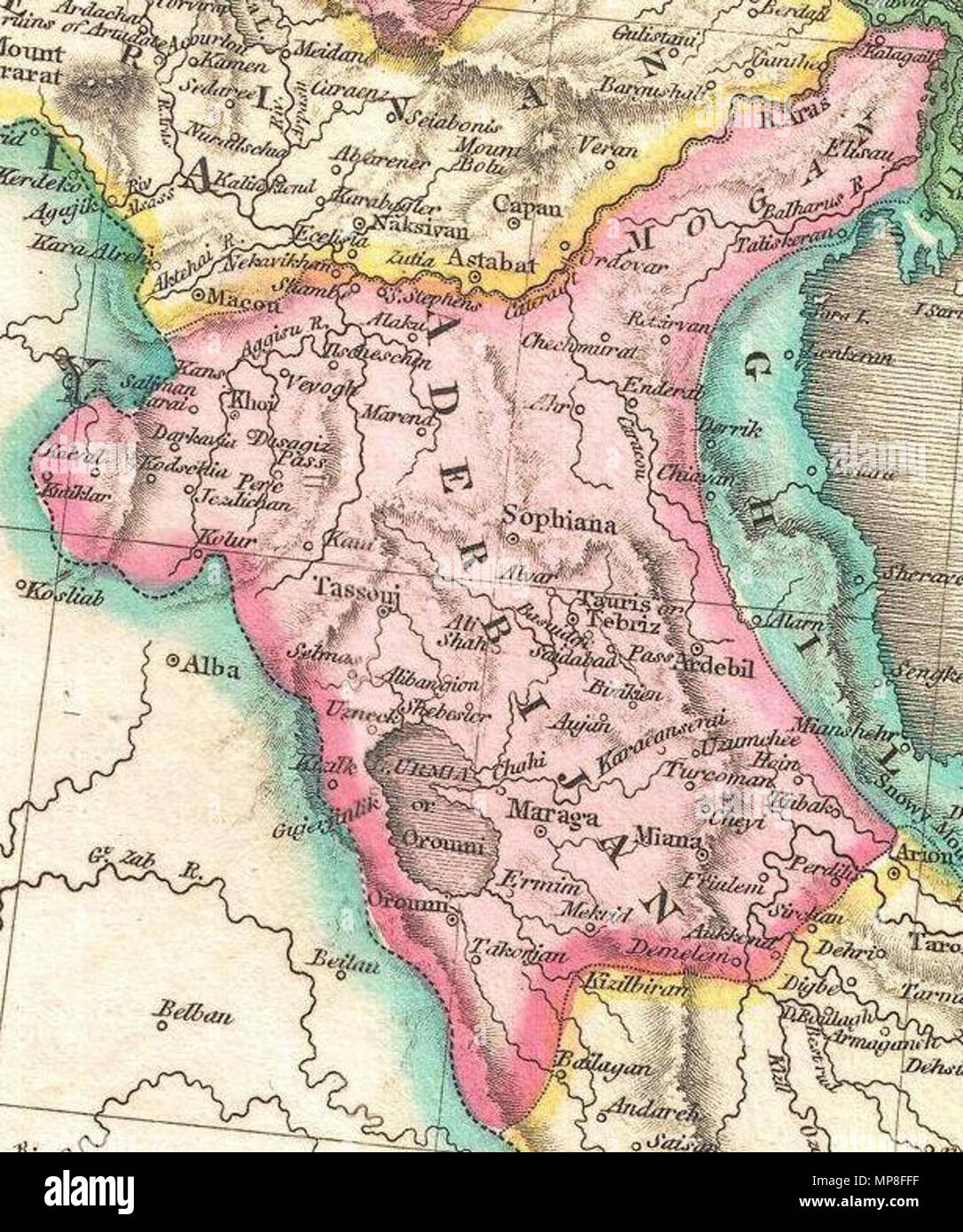 English: A rare and important 1818 map of Persia by John Pinkerton ...