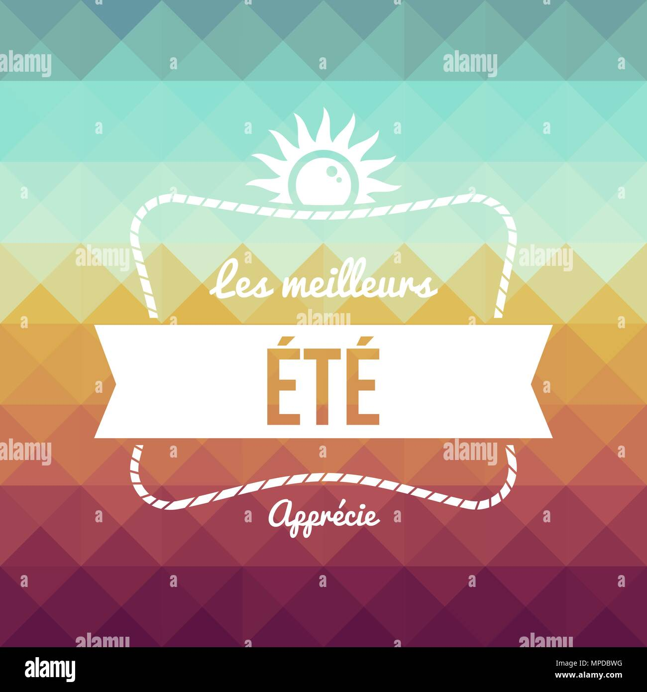 Summer Vacation Typography Quote Greeting Card In French Language