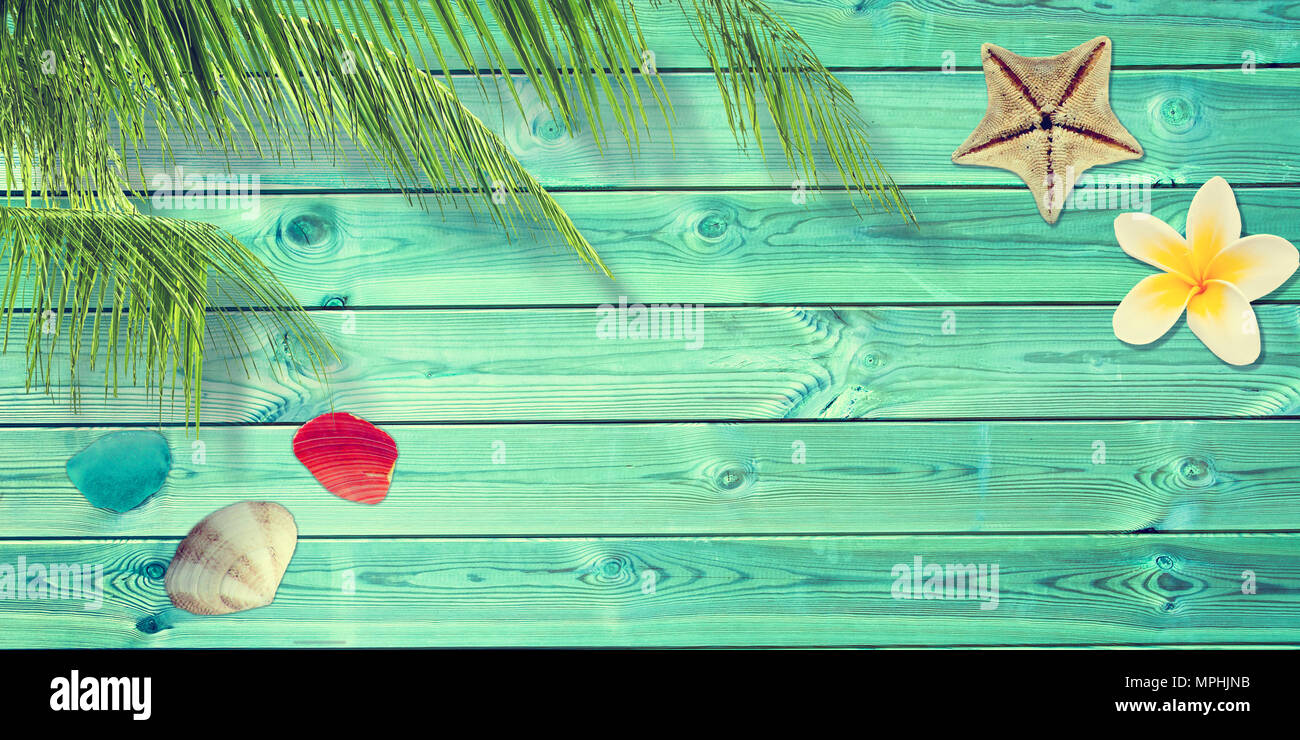ac8b9d9829f41 Beach and summer background with blue planks